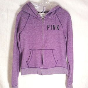 PINK Victorias Secret purple full zip hoodie small